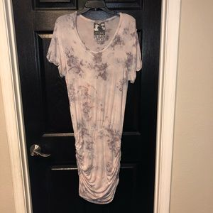 young fabulous and broke tie dye dress gray